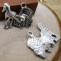 Zinklegierung Tier Anhänger, Pferd, antik silberfarben plattiert, frei von Nickel, Blei & Kadmium, 22x18mm, Bohrung:ca. 1-3mm, 400PCs/Menge, verkauft von Menge