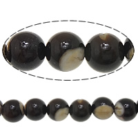Turbanschnecken Perle, rund, 6mm, Bohrung:ca. 1.2mm, Länge:ca. 16 ZollInch, 10SträngeStrang/Menge, verkauft von Menge