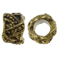 Zink Legierung Europa Perlen, Zinklegierung, antike Goldfarbe plattiert, ohne troll, frei von Nickel, Blei & Kadmium, 8x6x4mm, Bohrung:ca. 4mm, 10PCs/Tasche, verkauft von Tasche