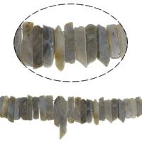 Natürliche graue Quarz Perlen, Grauer Quarz, 25-70mm, Bohrung:ca. 1.5mm, Länge:ca. 15.7 ZollInch, 5SträngeStrang/Menge, verkauft von Menge