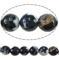 Natürliche Feuerachat Perlen, rund, verschiedene Größen vorhanden & facettierte, Bohrung:ca. 1-1.2mm, Länge:ca. 15 ZollInch, verkauft von Menge
