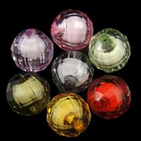 Perlen in Perlen Acrylperlen, Acryl, rund, gemischte Farben, 12mm, Bohrung:ca. 2mm, ca. 500PCs/Tasche, verkauft von Tasche