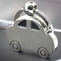 Zinklegierung Schlüsselanhänger, Auto, Platinfarbe platiniert, Emaille, frei von Nickel, Blei & Kadmium, 42x25x5mm, 25PCs/Menge, verkauft von Menge