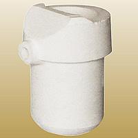 Quarz Schmelztiegel, weiß, 57x89mm, 2PCs/Menge, verkauft von Menge