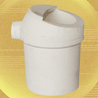 Quarz Schmelztiegel, weiß, 63.50x96.50mm, 2PCs/Menge, verkauft von Menge