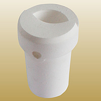 Quarz Schmelztiegel, weiß, 51x78mm, 2PCs/Menge, verkauft von Menge
