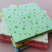 Origami Papier, Quadrat, für Origami-Kraniche machen & mit einem Muster von Herzen, gemischte Farben, 65x65mm, 20Taschen/Menge, ca. 150PCs/Tasche, verkauft von Menge