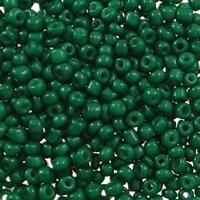 Volltonfarbe Glas Rocailles, Glas-Rocailles, rund, verschiedene Größen vorhanden, dunkelgrün, Bohrung:ca. 1mm, verkauft von Tasche