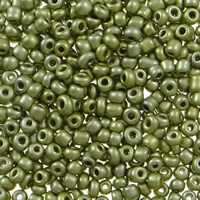 Plattierte Glas Rocailles, Glas-Rocailles, rund, verschiedene Größen vorhanden, hellgrün, Bohrung:ca. 1mm, verkauft von Tasche