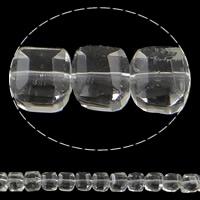 Klasse AA Kristallperlen, Kristall, Würfel, transparent & facettierte & AA grade crystal, Kristall, 10mm, Bohrung:ca. 1mm, Länge:ca. 12.5 ZollInch, 10SträngeStrang/Tasche, verkauft von Tasche