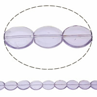 Ovale Kristallperlen, Kristall, heller Amethyst, 17x14x4.50mm, Bohrung:ca. 1mm, Länge:ca. 13.3 ZollInch, 20SträngeStrang/Tasche, verkauft von Tasche