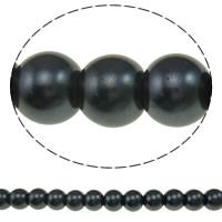 Einbrennlack Glasperlen, Glas, rund, keine, 8mm, Bohrung:ca. 1mm, Länge:ca. 31.5 ZollInch, 10SträngeStrang/Tasche, verkauft von Tasche