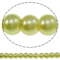 Einbrennlack Glasperlen, Glas, rund, keine, 6mm, Bohrung:ca. 1mm, Länge:ca. 32.2 ZollInch, 10SträngeStrang/Tasche, ca. 159PCs/Strang, verkauft von Tasche