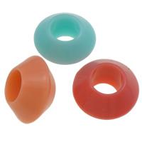 Gelee-Stil-Acryl-Perlen, Acryl, Untertasse, Gellee Stil, gemischte Farben, 9x16mm, Bohrung:ca. 7mm, ca. 625PCs/Tasche, verkauft von Tasche