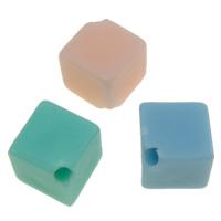 Gelee-Stil-Acryl-Perlen, Acryl, Rhombus, Gellee Stil, gemischte Farben, 8x9mm, Bohrung:ca. 1mm, ca. 1300PCs/Tasche, verkauft von Tasche