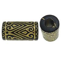 Golddruck Acryl Perlen, Rohr, Volltonfarbe, schwarz, 17x9mm, Bohrung:ca. 4mm, ca. 500PCs/Tasche, verkauft von Tasche