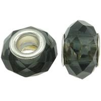 European Kristall Perlen, Rondell, Messing-Dual-Core ohne troll & facettierte, Schatten Kristall, 14x9mm, Bohrung:ca. 5mm, 20PCs/Tasche, verkauft von Tasche