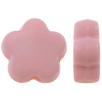 Volltonfarbe Acryl Perlen, Blume, keine, 9x9x4mm, Bohrung:ca. 1.5mm, ca. 2500PCs/Tasche, verkauft von Tasche