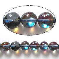 Natürlicher Quarz Perle, rund, keine, 10mm, Bohrung:ca. 1mm, Länge:ca. 15 ZollInch, 5SträngeStrang/Menge, ca. 40PCs/Strang, verkauft von Menge