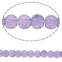 Knistern Glasperlen, Glas, rund, zweifarbig, keine, 6mm, Bohrung:ca. 2mm, Länge:ca. 32 ZollInch, 10SträngeStrang/Tasche, verkauft von Tasche