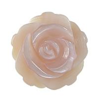 Natürliche Rosa Muschelperlen, Blume, Weitere Größen für Wahl & halbgebohrt, Bohrung:ca. 1mm, 50PCs/Menge, verkauft von Menge