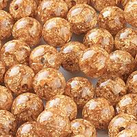 Goldfolie Perle, rund, verschiedene Größen vorhanden, Bohrung:ca. 1-2mm, 50PCs/Menge, verkauft von Menge