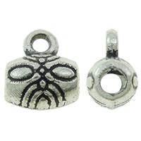 Zinklegierung Stiftöse Perlen, Trommel, antik silberfarben plattiert, frei von Nickel, Blei & Kadmium, 6x7.50x4.50mm, Bohrung:ca. 1mm, ca. 2000PCs/kg, verkauft von kg