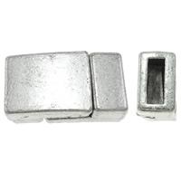 Zinklegierung Magnetverschluss, Rechteck, Platinfarbe platiniert, frei von Nickel, Blei & Kadmium, 18x9x6mm, Bohrung:ca. 2x6mm, 10PCs/Tasche, verkauft von Tasche