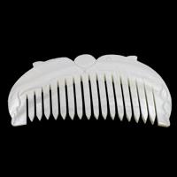 Schale Kamm, Süßwassermuschel, natürlich, weiß, 105x49x6mm, 10PCs/Tasche, verkauft von Tasche