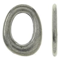 Zinklegierung Verbindungsring, oval, antik silberfarben plattiert, frei von Nickel, Blei & Kadmium, 16x21x2mm, Bohrung:ca. 9x13mm, ca. 240PCs/kg, verkauft von kg