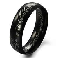 Edelstahl Herren-Fingerring, Kreisring, schwärzen, verschiedene Größen vorhanden & für den Menschen, 6mm, 20PCs/Tasche, verkauft von Tasche