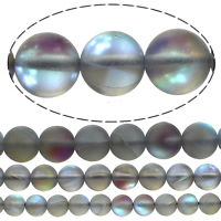 Glas Perle, rund, plattiert, Weitere Größen für Wahl, Bohrung:ca. 1mm, verkauft von Menge