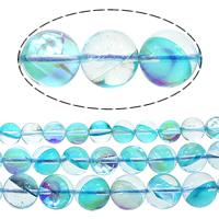 Glas Perle, rund, halb plattiert, Weitere Größen für Wahl, Bohrung:ca. 1mm, verkauft von Menge