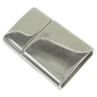 Zinklegierung Magnetverschluss, Rechteck, Platinfarbe platiniert, frei von Nickel, Blei & Kadmium, 23x15.50x6mm, Bohrung:ca. 13x4mm, 10SetsSatz/Tasche, verkauft von Tasche