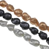 Kultivierte kernhaltige Süßwasserperlen, kultivierte Süßwasser kernhaltige Perlen, Keishi, keine, Klasse AA, 15-18mm, Bohrung:ca. 0.8mm, verkauft per ca. 15.7 ZollInch Strang