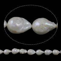 Kultivierte kernhaltige Süßwasserperlen, kultivierte Süßwasser kernhaltige Perlen, Keishi, natürlich, weiß, 16-18mm, Bohrung:ca. 0.8mm, verkauft per ca. 15.7 ZollInch Strang