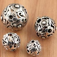 Bali Sterling Silber Perlen, Thailand, rund, verschiedene Größen vorhanden & hohl, verkauft von Tasche
