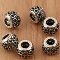 Thailand European Perlen, Trommel, ohne troll & hohl, 10x7.2mm, Bohrung:ca. 4.5mm, 5PCs/Tasche, verkauft von Tasche