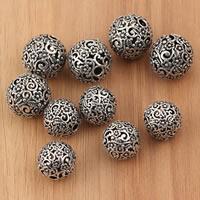 Bali Sterling Silber Perlen, Thailand, rund, verschiedene Größen vorhanden & hohl, 2PCs/Tasche, verkauft von Tasche