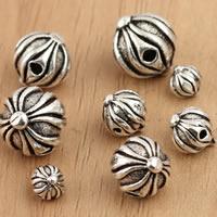 Bali Sterling Silber Perlen, Thailand, Laterne, verschiedene Größen vorhanden, verkauft von Tasche