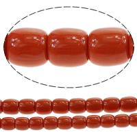 Riesenmuscheln Perlen, Riesenmuschel, Zylinder, Weitere Größen für Wahl, rote Orange, Bohrung:ca. 2mm, verkauft von Menge