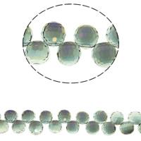 Klasse AA Kristallperlen, Kristall, rund, bunte Farbe plattiert, verschiedene Größen vorhanden & facettierte & AA grade crystal, Aquamarin-AB, Bohrung:ca. 1mm, ca. 100PCs/Strang, verkauft per ca. 15.5 ZollInch Strang