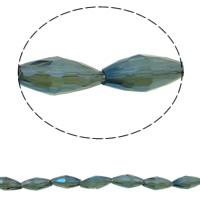 Klasse AA Kristallperlen, Kristall, Doppelkegel, bunte Farbe plattiert, verschiedene Größen vorhanden & facettierte & AA grade crystal, Montana, Bohrung:ca. 1mm, verkauft per ca. 15.5 ZollInch Strang