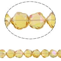 Klasse AA Kristallperlen, Kristall, Blume, bunte Farbe plattiert, verschiedene Größen vorhanden & facettierte & AA grade crystal, Topas, Bohrung:ca. 1.5mm, verkauft per ca. 15.5 ZollInch Strang