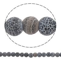 Natürliche Effloresce Achat Perlen, Auswitterung Achat, rund, 8x8mm, Bohrung:ca. 1mm, verkauft per ca. 14.5 ZollInch Strang