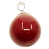 South Sea Shell Anhänger, Südsee Muschel, mit Messing Stiftöse, Tropfen, mit 925 logo & verschiedene Größen vorhanden, rot, Bohrung:ca. 3.5x6mm, 10PCs/Tasche, verkauft von Tasche