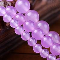 Lila Chalcedon, violetter Chalzedon, rund, verschiedene Größen vorhanden, verkauft von Menge