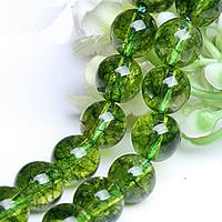Knistern Glasperlen, Glas, rund, verschiedene Größen vorhanden, grün, verkauft von Menge