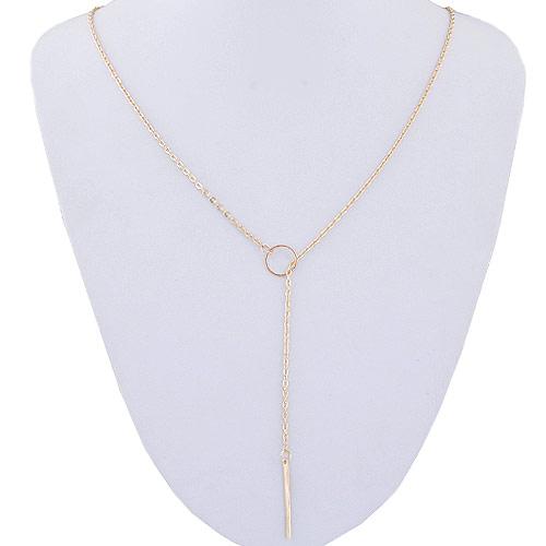 Zinklegierung Schmuck Halskette, goldfarben plattiert, frei von Blei & Kadmium, 500mm, verkauft per ca. 19.69 ZollInch Strang