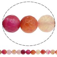 Natürliche Crackle Achat Perlen, Geknister Achat, rund, verschiedene Größen vorhanden & facettierte, farbenfroh, Bohrung:ca. 1mm, Länge:ca. 15 ZollInch, verkauft von Menge